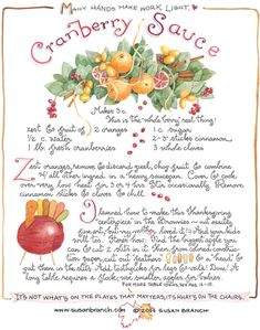 Cranberry Sauce | Susan Branch Blog