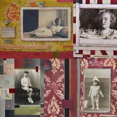 Natasha Kerr's evocative pictures using old photos, memorabilia and vintage fabrics