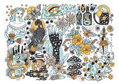 INTO THE MYSTIC / ART PRINT / RAYCH PONY GOLD / FLASH