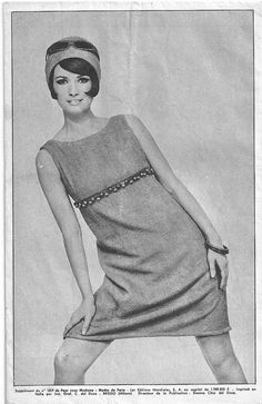 1960's French Chic shift dress pattern