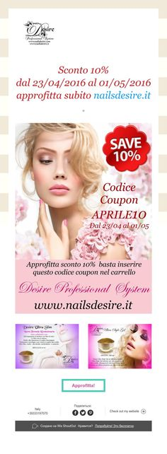 Sconto 10%   dal 23/04/2016 al 01/05/2016  approfitta subito nailsdesire.it Movie Posters, Popcorn Posters, Film Posters, Posters, Film Poster