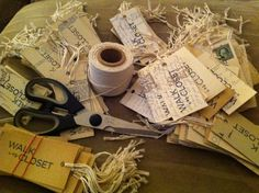 DIY make hangtags or gift tags with vintage postcards by Singhnature.com