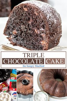Chocolate Cake Mix Recipes, Chocolate Chip Pound Cake, Sour Cream Chocolate Cake, Box Cake Recipes, Chocolate Pudding Cake, Sour Cream Cake, Chocolate Cake Mixes, Triple Chocolate Bundt Cake Recipe, Chocolate Chips