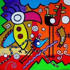 Bianca Leusink - Kleurrijke moderne vrolijke kunst!