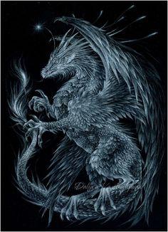 Ice dragon by Anwaraidd