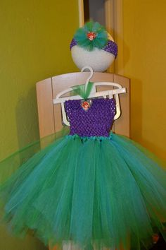 Ariel Little Mermaid Tutu dress and bow 3T/4T by chicbabyboutique1, $32.00
