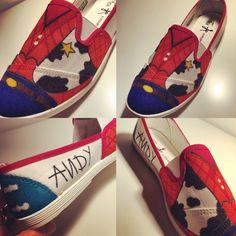 Customização alpargatas toystory woody andy Disney custom shoes