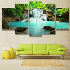 Gentle Falls Panel Painting – readysetdecor