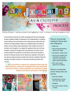 art journaling as a creative process: Downloads