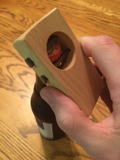 Handmade Wooden Bottle Opener by rebHOLZdesigns on Etsy