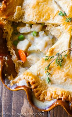 This double crust chicken pot pie is perfect when you're looking for comfort food and don't have...