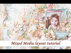 It's start to finish tutorial for scrapbooking layout with mixed media techniques. This tutorial attended to my students in Israel, so it's with a voice over...