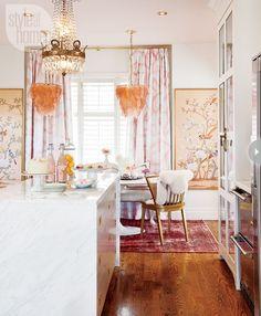 Feminine Glam :: A Peek at Christine Doveys Home - belle maison