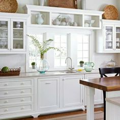gorgeous kitchen - love the horizontal cabinet