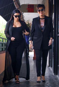 Kim Kardashian e a mãe, Kris Jenner (Foto: AKM-GSI)