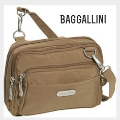 d0bd591fc44 ⚡️Flash Sale⚡️Baggallini Triple Zip Crossbody Mini Gently used, tons of  compartments, crossbody bag, tan outside light blue inside Bags Crossbody  Bags