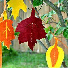 Guirnalda de fieltro para hacer con niños en otoño - Manualidades para niños - Charhadas.com