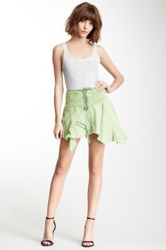 Asymmetrical skirt by Da-Nang. Cute, casual look!