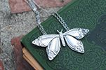 spoon jewelry: Butterfly Necklace