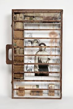 """Mary Rork-Watson, """"Letters from Home""""    Box Assemblage from MRW Studio"""