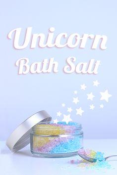 DIY beruhigendes Badesalz à la Unicorn ✨ Ätherisches Lavendelöl wirkt beruhigend…