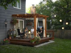 Love this pergola in the backyard