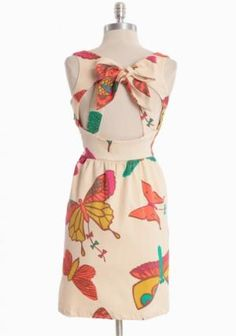 Butterfly Kites Bow-back Dress By Judith March | Modern Vintage New Arrivals