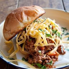 Savoury mince and cheese on a toasted bun - we'll take three thanks!
