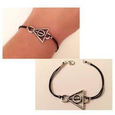 Lille Harry Potter Dødsregalierne Armbånd,Antik sølv Armbånd,Film Armbånd, Film, Smykker,Troldmand, Harry,Harry Potter Symbol