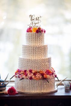 Buttercream wedding cake with petal detailing. Cascading Bouquets, Cascade Bouquet, Buttercream Wedding Cake, Custom Cakes, Wedding Cakes, Colorado, Creative, Desserts, Personalized Cakes