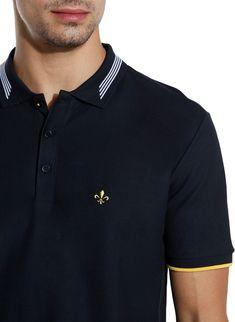 Polo Dudalina Sport Friso Masculina 08.75.0435 - Dudalina | Loja Online Polo Shirt Style, Polo Shirt Design, Polo Design, Club Shirts, Polo T Shirts, Le Polo, Mens Attire, Mens Tees, Shirt Designs