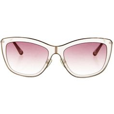 Pre-owned Valentino Cat-Eye Gradient Sunglasses ($95) ❤ liked on Polyvore featuring accessories, eyewear, sunglasses, pink, logo sunglasses, pink sunglasses, pink cat eye sunglasses, valentino eyewear and gradient lens sunglasses