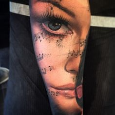 Face of Music Tattoo
