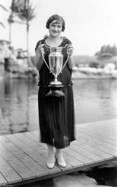 """Winner of the """"Miss Bobbed-Hair"""" beauty contest that took place on February 27, 1925 in Coral Gables, Florida."""