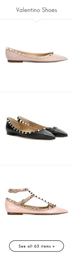 """""""Valentino Shoes"""" by vieirabeh ❤ liked on Polyvore featuring shoes, flats, embellished ballet flats, pointy toe ballet flats, valentino shoes, ballet shoes, ballet flat shoes, black, black leather flats and black leather shoes"""