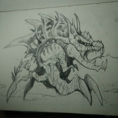 Alien dinosaur design  hope u like it.  #creaturesdesign  #creepy  #cute #scary #alien #monsters #monster #mix #sketch #pencil #design