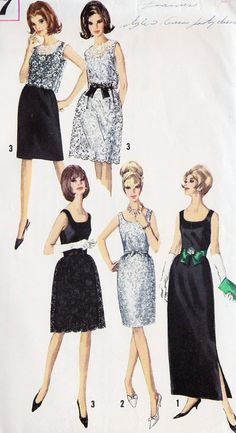 1960s Misses Fitted Cocktail Dress or Evening Gown~love these! Maybe I was born at the wrong time???