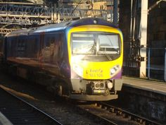 Liverpool lime street station with class 185 106 arriving on 17.4.2012
