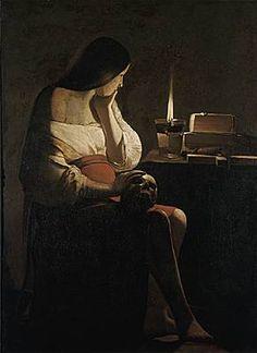 Georges de La Tour (1593-1652) la Madeleine à la veilleuse