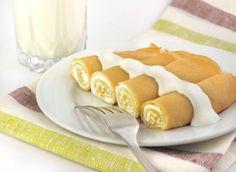 Crepes alla ricotta con fonduta di formaggi