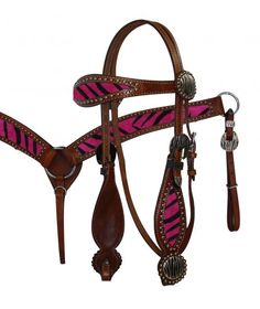 Zebra Headstall & Breast Collar Set www.armstrongsts.com