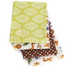 Li'l Kids - Safari Fun Receiving Blanket (4 pack)