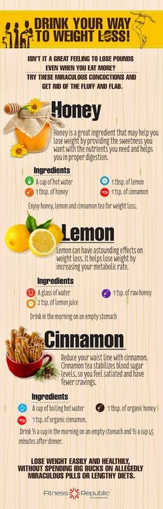 .honey, cinnamon and lemon drink
