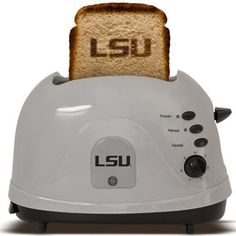 LSU Tigers Silver Team Logo Pro Toaster- this would be really awesome