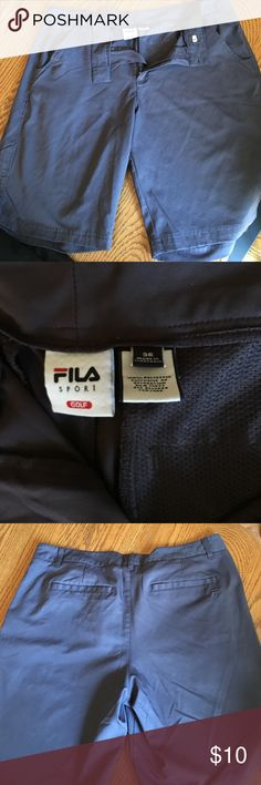 """Fila golf shorts waist 36 These were my favorite shorts but lost some weight and now are just a little too big. Light weight and soft. Great condition. No blemishes. 9"""" inseam. Fila Shorts Flat Front"""