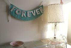 PRE-ORDER - Forever Glittering Fringe Banner - Garland, Party, Photo Prop, and Home Decor - original design fringe banner