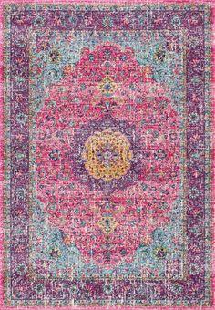 Teppich Darcia in Rosa/Lila