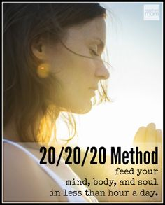 When I turned 40, I realized I was an observer in my life. So I dedicated one-hour each day, in 20-minute blocks) on me and refueled my mind, body and soul. So simple, and so life changing and anyone can get started today.