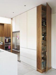Magnificent Rustic Kitchen Island Design Ideas – Home Decor İdeas Modern Kitchen Pantry Doors, Kitchen Pantry Design, Kitchen Cabinets In Bathroom, Modern Kitchen Design, Kitchen Layout, Home Decor Kitchen, Interior Design Kitchen, Kitchen Ideas, Diy Kitchen