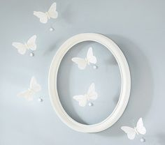 $25/set of 6, http://www.potterybarnkids.com/products/feather-butterfly-decor/?pkey=cdecor-hanging-decor& -- Feather Butterfly Décor | Pottery Barn Kids